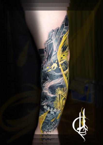 Tatuaje estilo Surrealismo de unas calaveras