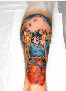 Tatuaje estilo anime de Dragon Ball
