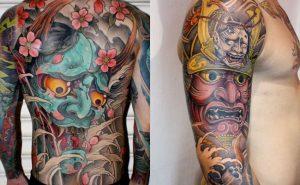 Tatuaje japonés en todo el cuerpo
